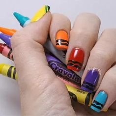 If you've just started another new school year, get yourself in the spirit with one of these 12 school-theme nail designs. From apples to graduation caps, these fun mani ideas from our favorite nail bloggers are sure to make you look like a class act!