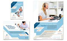 Great website for layouts  Medical Transcription Flyer Design