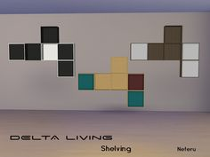Delta Living_Shelving  Found in TSR Category 'Sims 4 Miscellaneous Surfaces'