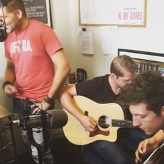 "A clip of a new song ""Gettin Sun"" at WGLR radio in Platteville, WI!  Written by…"