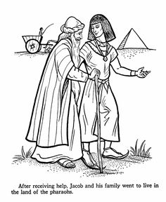 joseph coloring pages | Joseph & Jacob Bible Coloring Page