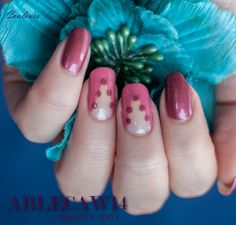 Ablecaw14, negative space, China Glaze life is rosy, OPI Mother Road Rose