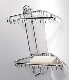 OML Malizie 275 Stainless Steel Shower Shelf with baskets