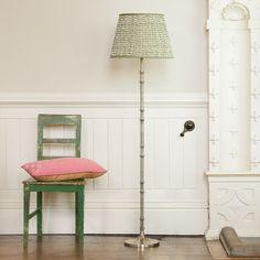 Pitigliano floor lamp in antique silver Floor Lamps Silver Floor Lamp, Floor Lamps, Aesthetic Bedroom, Kit Homes, Shop Lighting, Kidsroom, Lampshades, Aluminium, Antique Silver