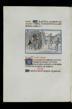 "Doco for ""modern"" style tent pegs.   Cologny, Fondation Martin Bodmer, Cod. Bodmer 49, f. 125v - Christine de Pisan, Epistle of Othea  http://www.e-codices.unifr.ch/fr/fmb/cb-0049/125v/0/Sequence-809"