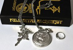 full metal Alchemist pocket watch and ring