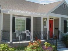 Curb Appeal Ideas for Ranch Style Homes Beautiful Front Porch Design Idea Bungalow Cottage Style Small Ideas Country Veranda Pergola, Front Porch Pergola, Front Porch Remodel, Small Front Porches, Front Porch Design, Porch Designs, Porch Swing, Front Deck, Pergola Patio