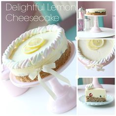 Lemon cheesecake ... With lemon jelly ... only need to bake the almond crust ...
