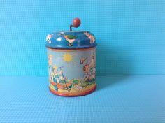 Vintage tin music box from the fifties van ButikoPupoj op Etsy