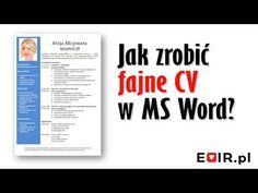 Jak przygotować fajne CV w MS Word? - YouTube