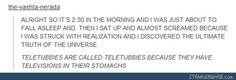 Teletubies; televisions in their stomachs; tumblr