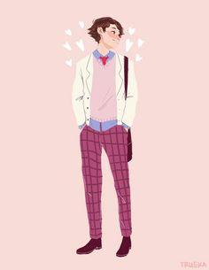 Imagen de anime, anime boy, and haikyuu Oikawa Tooru, Iwaoi, Hinata Shouyou, Pretty Art, Cute Art, Anime Comics, Le Rosey, Haikyuu Characters, Anime Characters