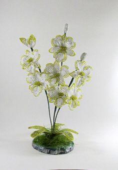 Beaded orchidHandmade beadedFlowersOrchid decorFlower