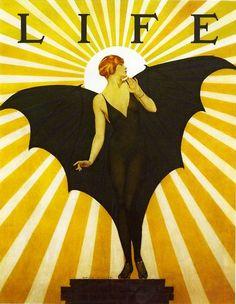 Art Deco Art Nouveau Bat Woman Goth Cigarette or Business Card Case or Metal ID wallet Art Vintage, Vintage Posters, Vintage Prints, Art And Illustration, American Illustration, Magazine Illustration, Harlem Renaissance, Cover Art, 3 Canvas Art