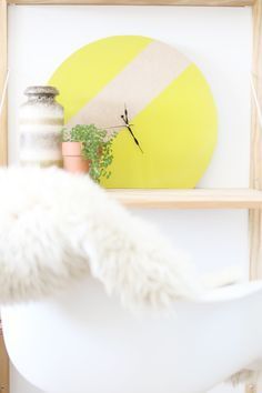DIY Giant Modern Clock | Hello Lidy for Curbly