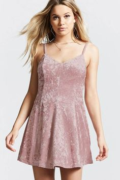 FOREVER 21+ Crushed Velvet Cami Dress #http://shopstyle.it/l/fpyC #casual#pretty