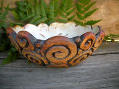 Coil Bowl by heritagevalleypotter on Etsy
