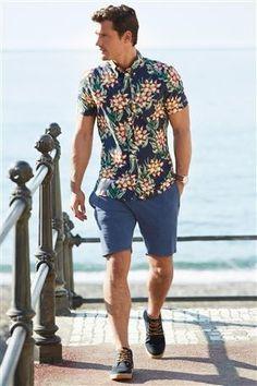 Navy Floral Print Shirt