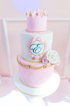 Princess cake from a Magical Princess Birthday Party on Kara's Party Ideas | KarasPartyIdeas.com (28)