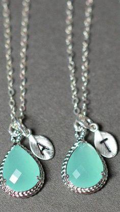 Mint Opal Gold  pear Sea Foam wedding jewelry