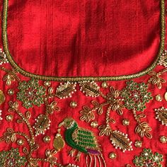 Global market Leader in Ethnic World, we serve End 2 End Customizable Indian Dreams That Reflect with Amazing Handwork & Unique Zardosi Art by Expert Workers Worldwide . Wedding Saree Blouse Designs, Half Saree Designs, Saree Blouse Neck Designs, Fancy Blouse Designs, Dress Neck Designs, Saree Wedding, Zardosi Work Blouse, Embroidery Neck Designs, Hand Embroidery