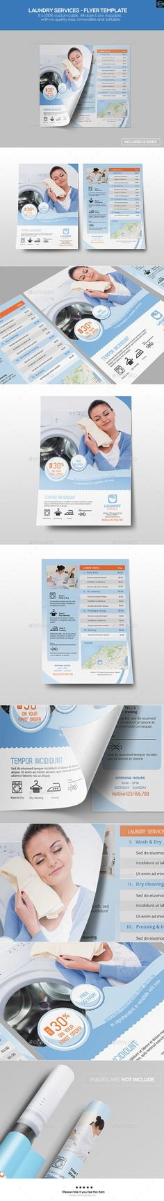 Laundry Services Flyer Template #design Download: http://graphicriver.net/item/laundry-services-flyer-template/12597923?ref=ksioks