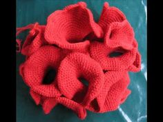 Learn to Crochet with Girlybunches - Curly Coral Crochet Brooch Tutorial (Hyperbolic) - YouTube