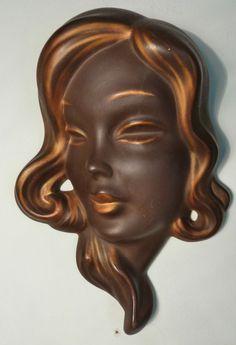 RARE THOMASCH AUSTRIA ART DECO WALL MASK OF A LADY - GOLDSCHEIDER ARTIST #WallMask