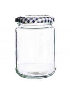 Lot de en verre ronde de conservation pots clip top cuisine spice herb jam container pots
