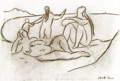 "Pablo Picasso - ""Bathers and children"". 1920"
