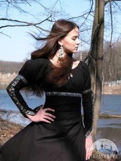 Medieval Fantasy Black Dress Tunic Costume by armstreet on Etsy, $127.00