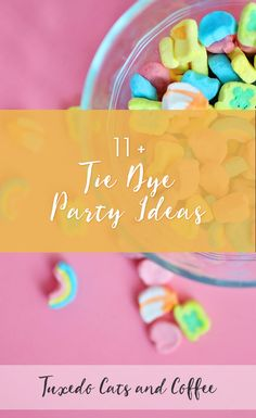 What could be more fun than a rainbow tie dye party reminiscent of the 60's and 70's? We have tie dye party ideas for everything you need for a great tie dye party, with rainbow napkins, utensils, centerpieces, tablecloths in more covered in rainbow tie dye patterns and peace signs and flowers. Here are 11+ tie dye party ideas.