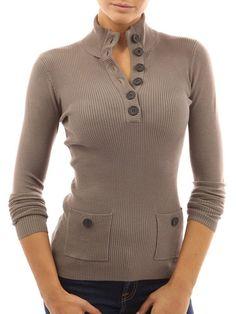 High Neck Dramatic Plain Pullover