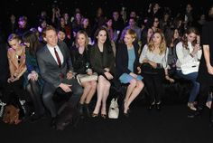 Tom Hiddleston, Laura Carmichael, Michelle Dockery, Michelle Williams, Elizabeth Olsen and Lana Del Rey attend the Mulberry Autumn/Winter 2012 runway show during London Fashion Week at Claridge's Hotel on February 19, 2012 in London, England.