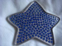 Belt Buckle in a Star with Blue Crystals http://www.ebay.com/itm/151214149994?ssPageName=STRK:MESELX:IT&_trksid=p3984.m1558.l2649