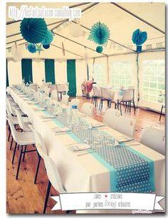 bapteme_etoile_fanion_pois4 Decoration Communion, Woodland Party, Baby Love, Christening, Baby Shower, Blog, Table Decorations, Wedding, Inspiration