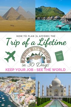 A Round the World trip isn't just affordable, it's the single most efficient  way to see the world and you don't have to quit your job to do it. Is this the year you start planning YOUR trip of a lifetime? #travel #roundtheworld #bucketlist #bigtrip
