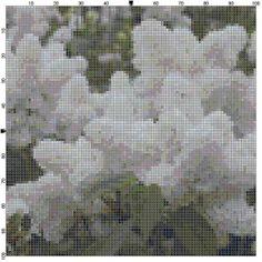 Cross Stitch Pattern Angel White Lilacs PDF by theelegantstitchery, $10.00