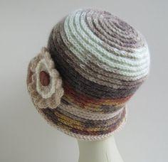 Women fashion hat hand knitted multicoloured by SEVILSBAZAAR, $29.00