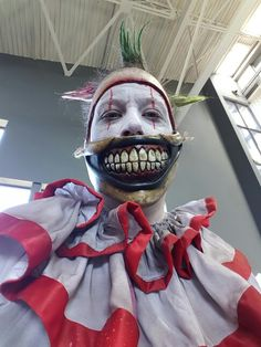 Twisty the clown by Rusty Sinner FX Horror Stories, Halloween Face Makeup, Pictures, Fictional Characters, Photos, Fantasy Characters, Grimm