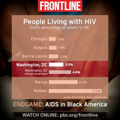 In Washington, D.C., the rate of HIV is higher than in Ethiopia, Congo, or Rwanda. Why? Investigate with Frontline.