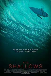 FRESH MOVIE: THE SHALLOWS   Still reeling from the loss of her mother medical student Nancy Adams (Blake Lively) travels to a secluded beach for some much-needed solace. Despite the danger of surfing alone Nancy decides to soak up the sun and hit the waves. Suddenly a great white shark attacks forcing her to swim to a giant rock for safety. Left injured and stranded 200 yards from shore the frightened young woman must fight for her life as the deadly predator circles her in its feeding…