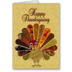 happy thanksgiving greetings | Happy Thanksgiving Turkey - Greeting Card from Zazzle.com