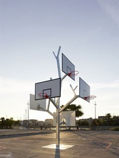 The Basketball Tree in Nantes (France)