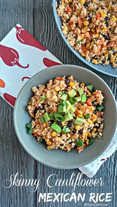 This recipe for skinny cauliflower Mexican rice packs a zesty punch. The dish is low in both calories and carbs and perfect for those who are trying to eat in a more healthy way. http://recipesjust4u.com