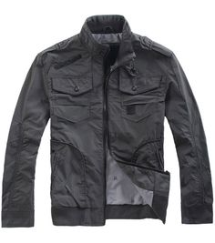 la chaqueta gris