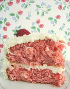 summer strawberry cake cream cheese frosting award winning recipe