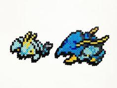Pokemon X and Y Perler - Clauncher / Clawitzer by ShowMeYourBits on deviantART