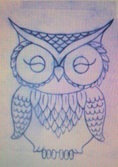 art nouveau owl draw - Pesquisa do Google