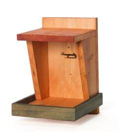 Wood Bird Nesting Shelf